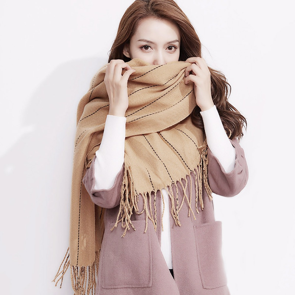 Winter Scarf Cashmere Scarf Men Women Couple Blanket Shawls and Scarves Wrap Pashmina Stole Wrap Tippet Male Female