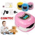Contec CMS50QB Pink Portable Handheld Pediatric Fingertip Blood Oxygen Pulse Oximeter Monitor