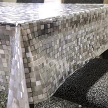 PVC Transparent Coffee Tea Crystal Table Cloth Lattice Tablecloth  Waterproof Oil Cloth Tablecloths Rectangular Soft Glass