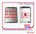 For Apple iPad 3 A1430 3G Version Battery Door Back Rear Housing Cover Case Replacement with logo Free Shipping