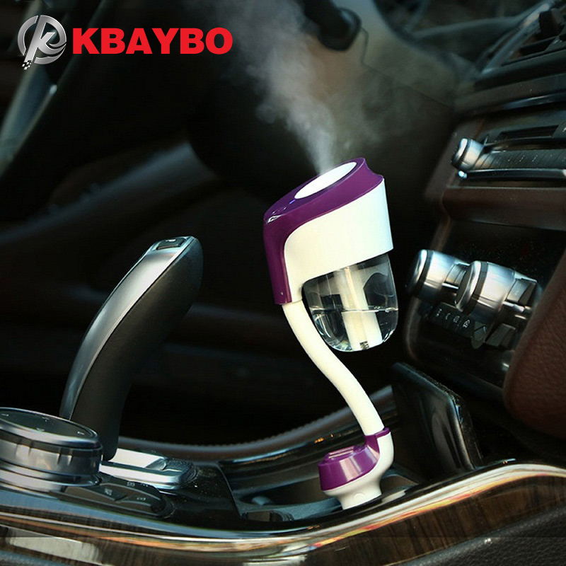 Cool Mist Car Air Purifier Portable Car Essential Oil Diffuser for Car Vehicle SUV and More Aromatherapy Diffusers Air Refresher Wevon Car Humidifier with 2 USB Charger Car Diffuser