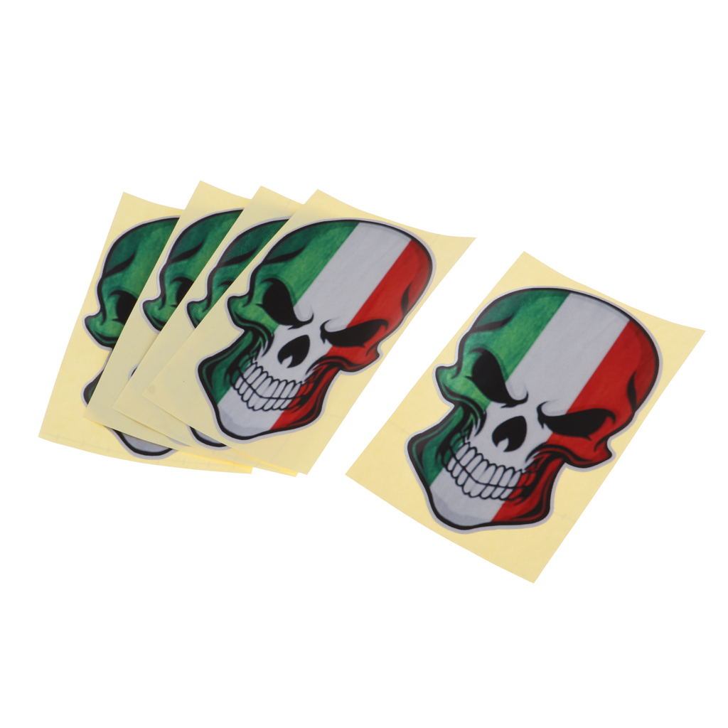 5pcs Reflective Scuba Diving Stickers Diver Down Decal 3D Skull Flag Stickers for Boat Car Laptop Helmet Truck Window Boat Yacht
