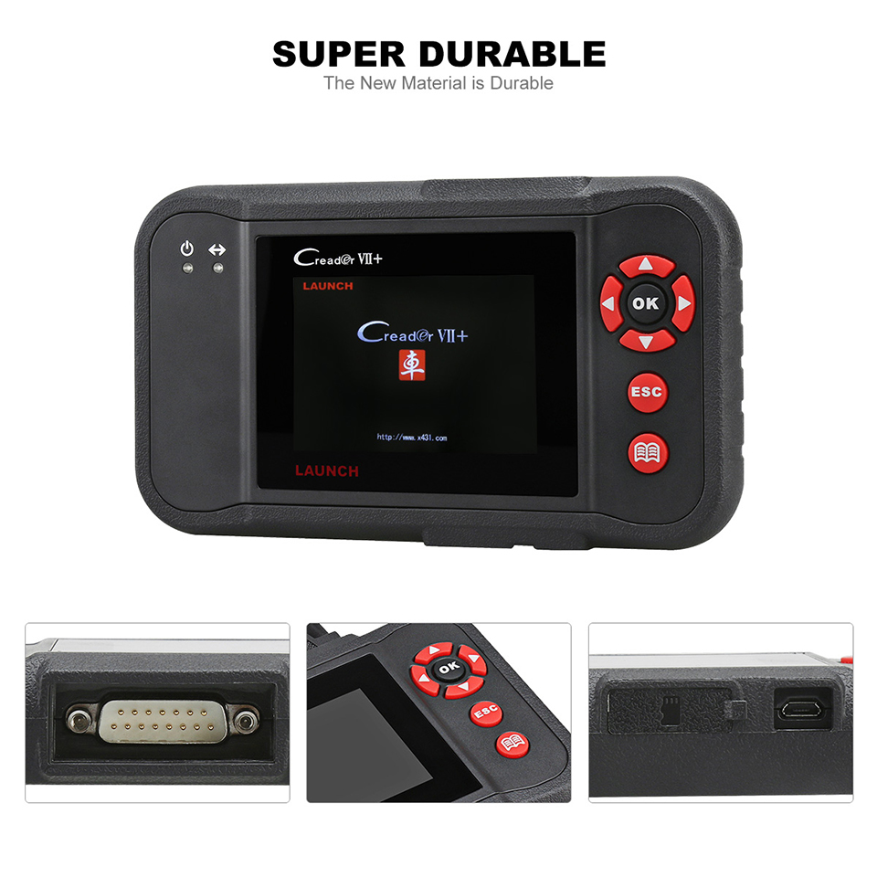 Launch X431 Creader VII+ VII plus Auto Code Reader OBD2 Scanner Launch  CRP123 OBDII Diagnostic Tool Car Automotive Scan Tool