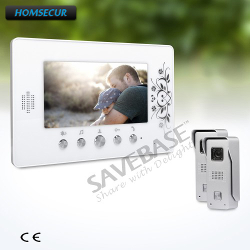 HOMSECUR 7inch Wired Video Door Phone Intercom System with Russian Local Delivery homsecur 4 3inch wired video door phone intercom system with electric lock delivery from russia