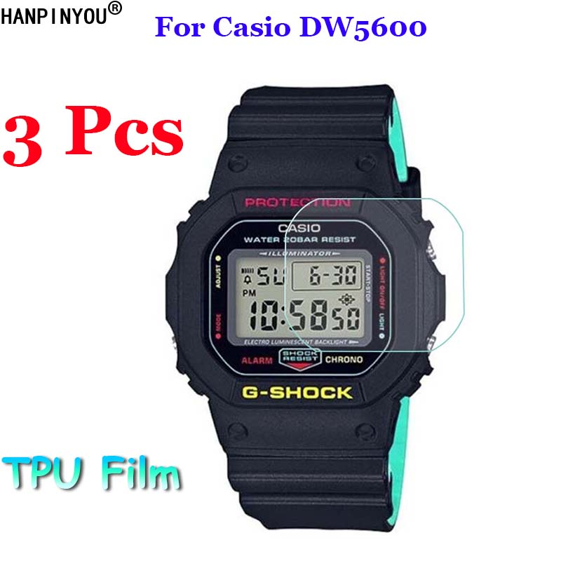 3Pcs/Lot For Casio DW5600 DW5610 DW 5600 5610 Sport Watch Soft TPU Full Cover Film Screen Protector (Not Tempered Glass)