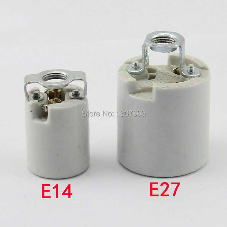 3PCS E14 E27 high temperature ceramic lamp holder socket, 660-watt 250-volt, screw lamp holder, ceramic E14 E27 socket