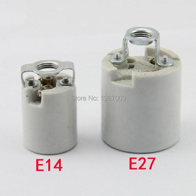 3PCS E14 E27 high temperature ceramic lamp holder socket, 660-watt 250-volt, screw lamp holder, ceramic E14 E27 socket