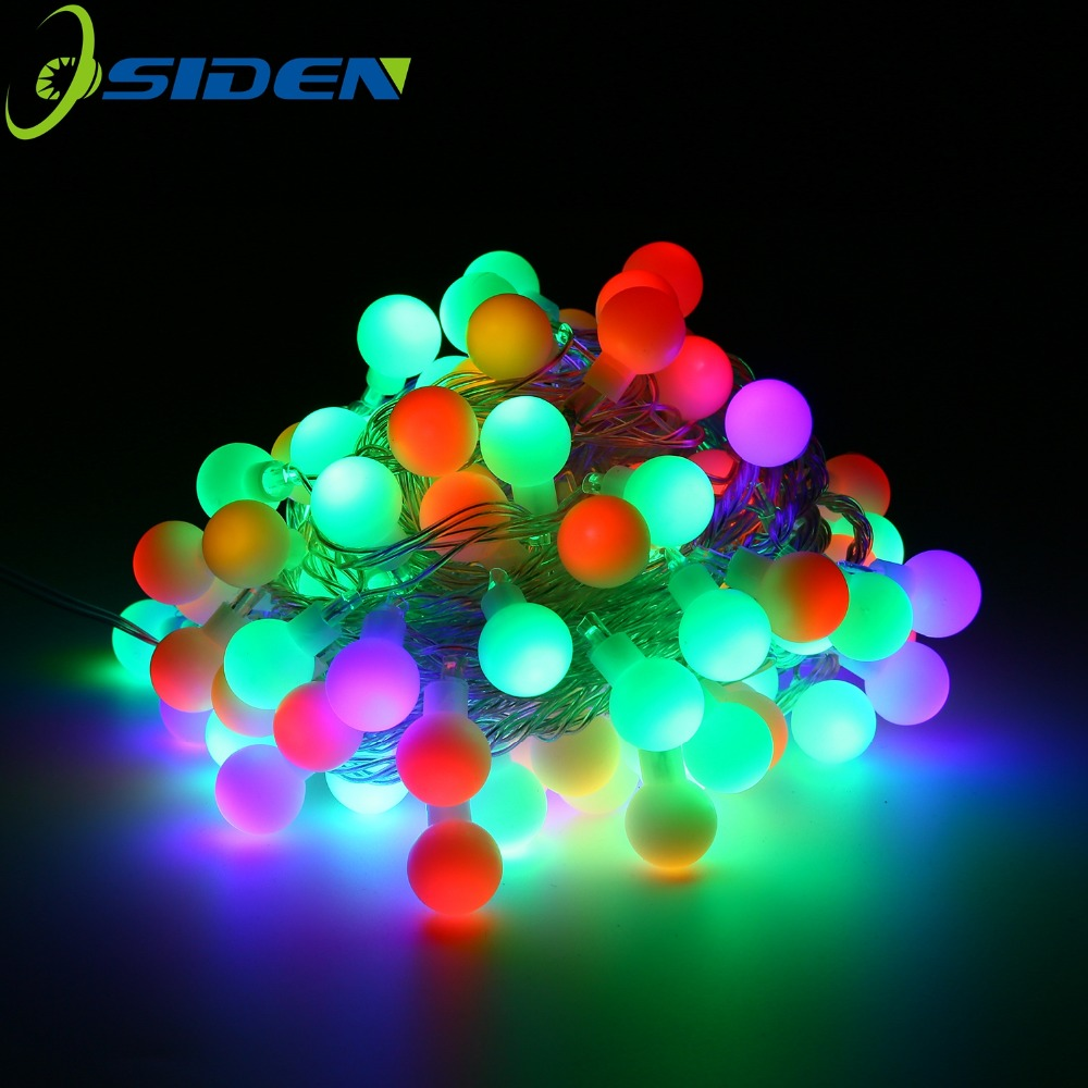 10m LED String Lights 20M 200 LEDs 5m 110V 220V Waterproof IP65 Outdoor Ball Christmas Lights Holiday Wedding Party Decotation