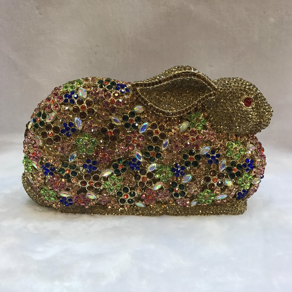 XIYUAN rabbit shape Diamond Clutch Bag Luxury Crystal Evening Bag Women Wedding Party Purse Ladies Prom Bag Day Clutches wallet luxury pearl blue clutch evening bag purse party wedding bride clutches ladies crystal diamond rhinestone bag day clutches gifts