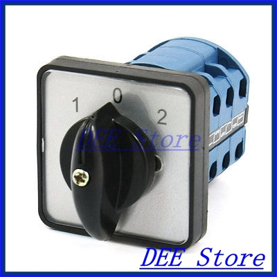 ON-OFF-ON 1-0-2 ON-OFF-ON Universal Rotary Cam Control Changeover Switch ui 660v ith 100a on off 2 position universal rotary cam changeover switch