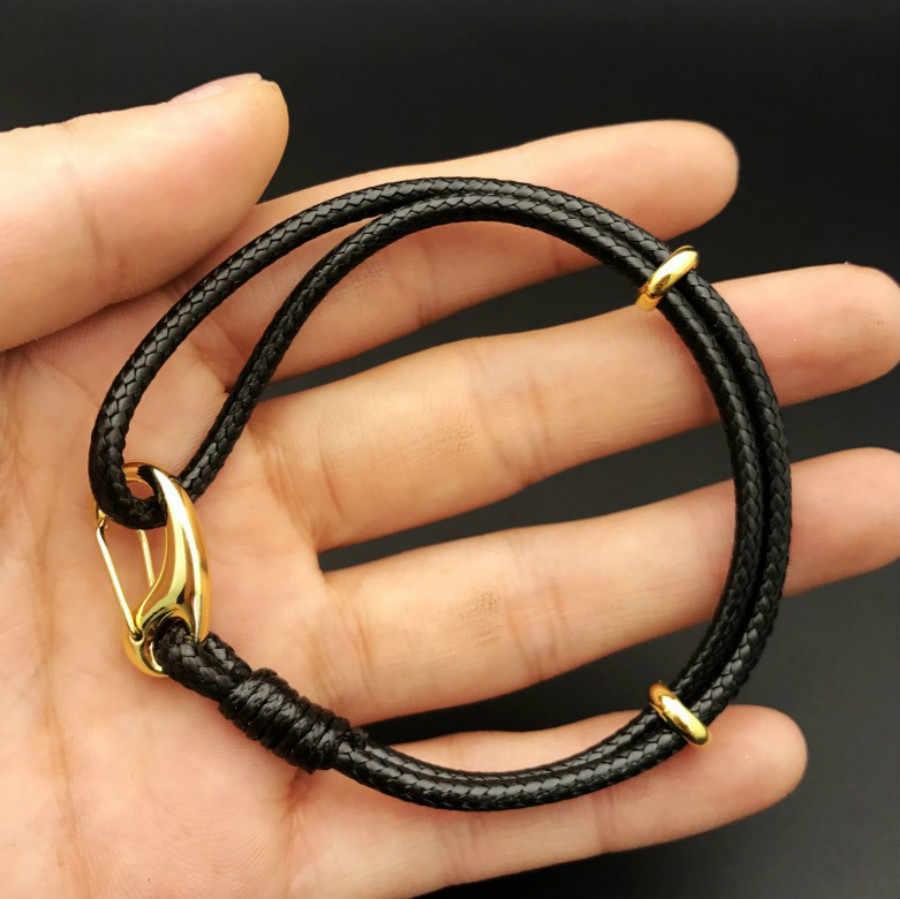 1 Pcs hand-woven Charm Bracelets Leather cord String Bracelet Lucky Red Handmade Rope Women Bracelet