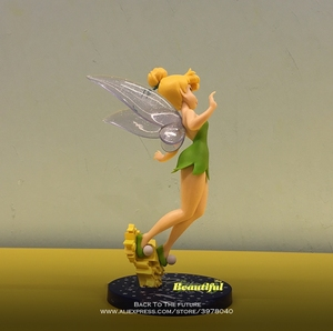 Image 3 - Disney Tinker Bell Princess Cartoon 20cm mini doll Action Figure Anime Mini Collection Figurine Toy model for children gift