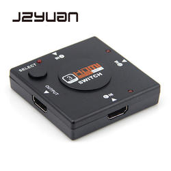 JZYuan 3 порта HDMI Splitter Switcher 1x3 Mini HDMI порт 3 входа 1 выход для HDTV 1080 P видео DV HDTV 1080P HDMI kvm переключатели