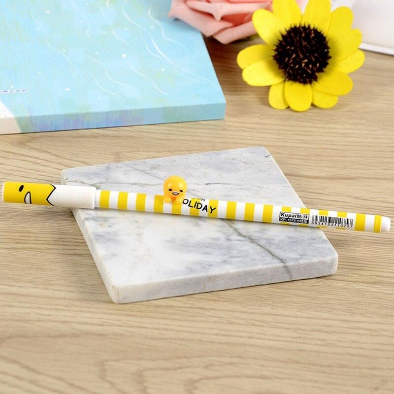 1 Pc 0.38mm 3d Lui Ei Gudetama Gel Pen Relatiegeschenk Schoolbenodigdheden Briefpapier Voor Studenten Grade Producten Volgens Kwaliteit