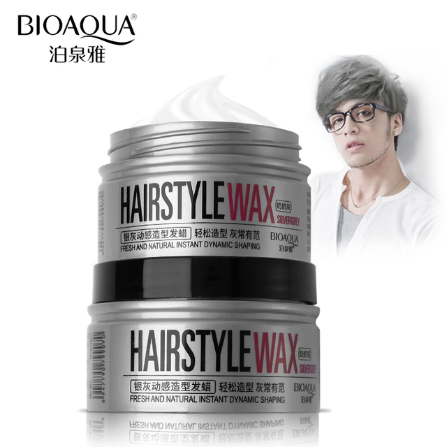 BIOAQUA Brand Silver Grey Color Hair Wax Pomades Professional ...