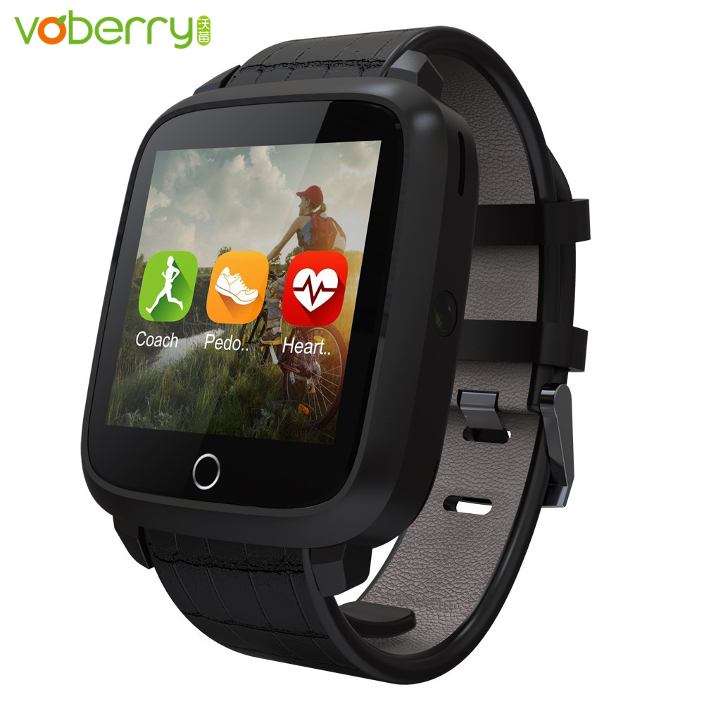 VOBERRY Bluetooth Smartwatch U11S 1G RAM 8G Memory ROM Quad Core Fitness Tracker Heart Rate Monitor Smart Watch with Camera