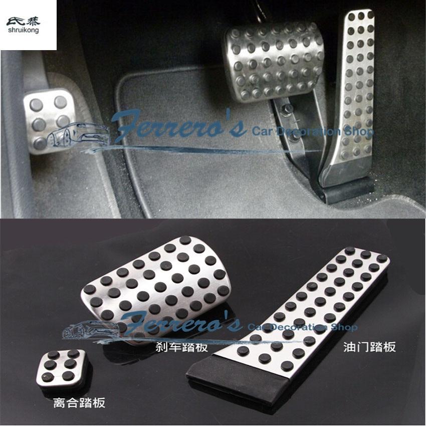3pcs/lot AMG AT pedal for Mercedes Benz C E S GLK SLK CLS SL Class W203 W204 W211 W212 W210,accelerator brake footrest pad