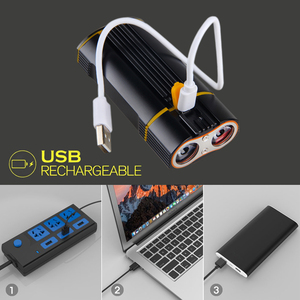 Image 4 - USB Rechargeable Handlebar Headlight  Front Bike Light 2X XM L T6 LED Lamp Built in Rechargeable Battery for Cycling