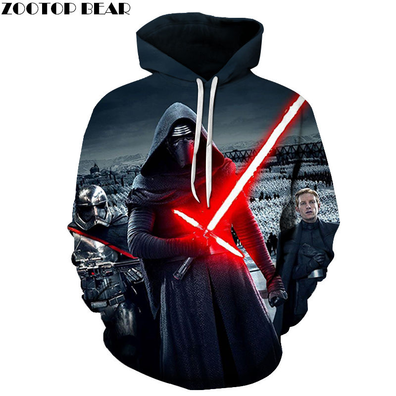 PLstar Cosmos 3D Star Wars Men Hoodies Cotton Sweatshirts Male Tops Casual Tracksuits Drop Ship Long Sleeve Brand ZOOTOP BEAR