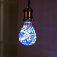 Edison Light Bulb RGB Flashing LED Light Bulbs E27 3w LED Lamp String Lights for Bar Cafes Bathroom Bedroom Living Room