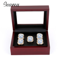 High Quality Red Wooden Championship Ring Gift Box Ring Holes Display Collection Jewelry Box For Fans