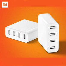Original Xiaomi 2A Quick Charge Plug 4 Port Micro USB Power Charger Adapter HUB For Samsung iPhone For Xiaomi Mobile Phone