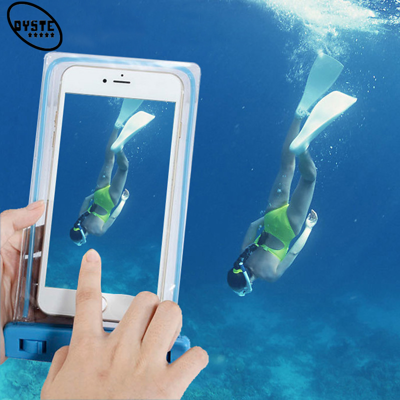 Waterproof Phone Case For Huawei mate 10 lite pro p10 lite P Smart p9 p8 lite 2017 Under Water Pocket Smart Case Diving Hang Bag in Phone Pouches from Cellphones Telecommunications