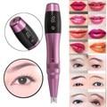 1Pcs Electric Tattoo Pen Makeup Tebori Permanent Eyebrow Eyeline Lip Machine Guns Contour Style Rechargeable With LED Screen