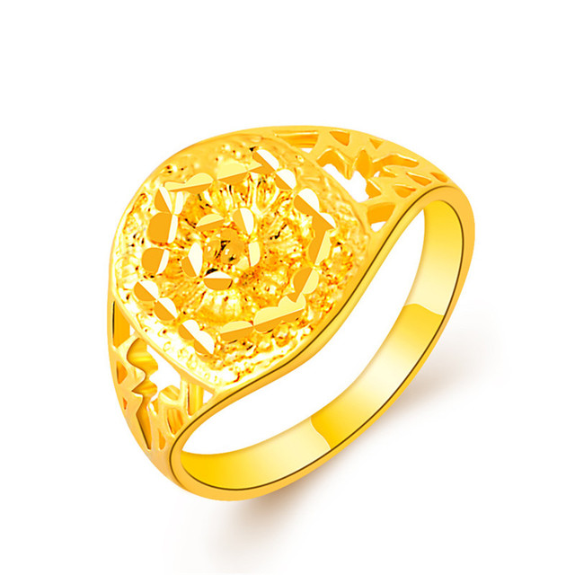 New Arrival Hollow Vintage Gold Wedding Rings For Man Or Women Punk HipHop Rock Wide Bands