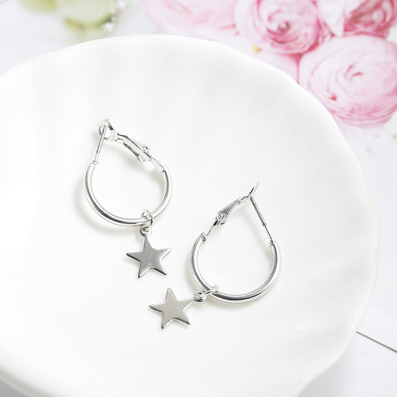 Simple Style Fashion Silver Gold Color Earrings for Women Square Round Geometric Hanging Earrings 18 Female Pendientes Jewelry 42