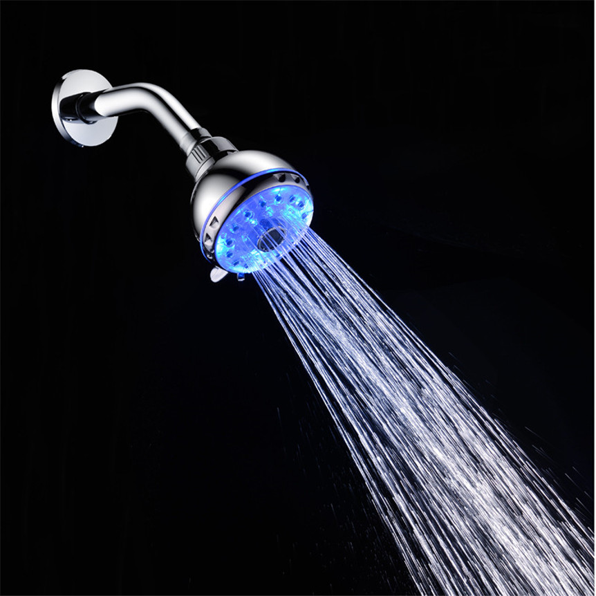 Lovely Pet New 1pc Hand Shower Home Bathroom RGB 7 Colorful LED Light Water Bath Bathroom Filtration Shower drop shipping 70705 network recovery