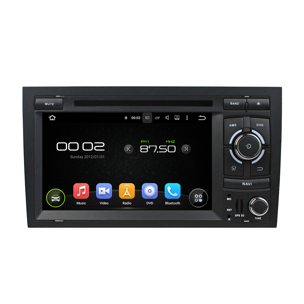 7″ Android 6.0 Octa-core Car Multimedia Player For Audi A4 2002-2008 GPS Navigation Car Video Audio Stereo Free MAP CANBUS