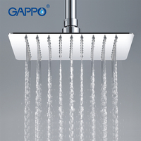 GAPPO 1PC High Quality 200*200mm Square 304 Stainless Steel Rainfall Shower Faucet Overhead Shower GA28
