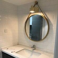 Зеркало для ванной комнаты, зеркало для макияжа, настенное туалетное зеркало для ванной комнаты, круглые зеркала LO681031