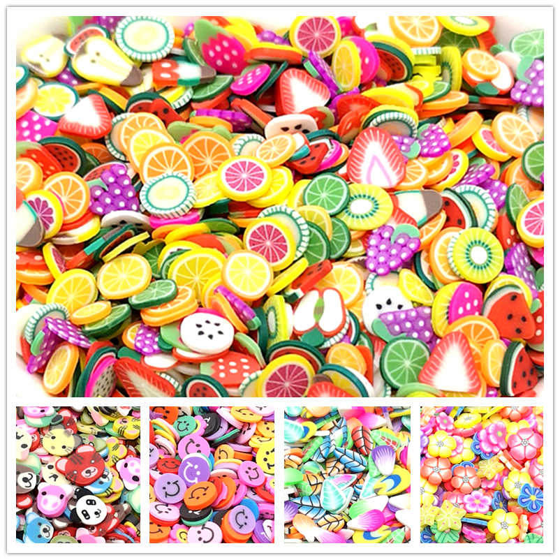 500 stks Gemengde Bloem Klei Kralen Decoratie Ambachten Plaksteen Cartoon Scrapbook Fit Phone Embellishments Diy Accessoires