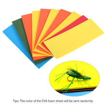 10PCS 2mm Thick EVA Foam Sheet Fly Tying Foam Paper Floating Buggy Cricket Body Fly Tying Material(China)