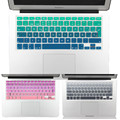 EU/UK layout Gradient Colors Spain Russia Keyboard Cover Silicone Sticker Skin for MacBook Pro 13 15 Retina Mac Air 13 A1466