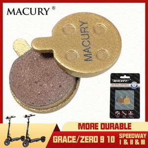 Macury Universal Composite Ceramics Metal Disc Brake Pad for Grace Zero 9 10 Electric Scooter Speedway 1 2 3 TÜV Certificate(China)