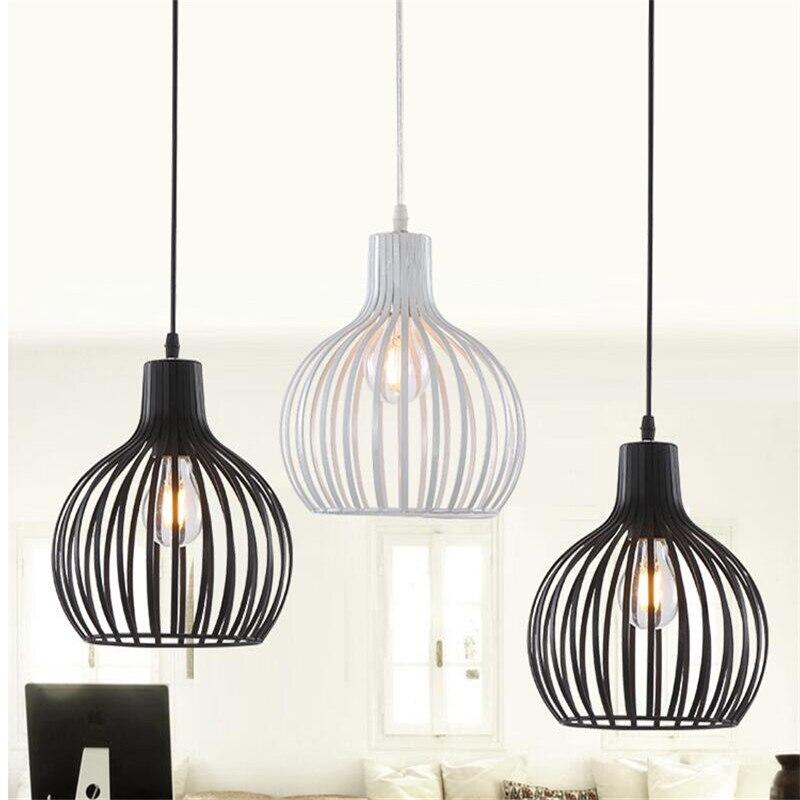 Luminaires suspendus en fer nordique lampe à Suspension Vintage pour Restaurant Bar lampe à Suspension en métal