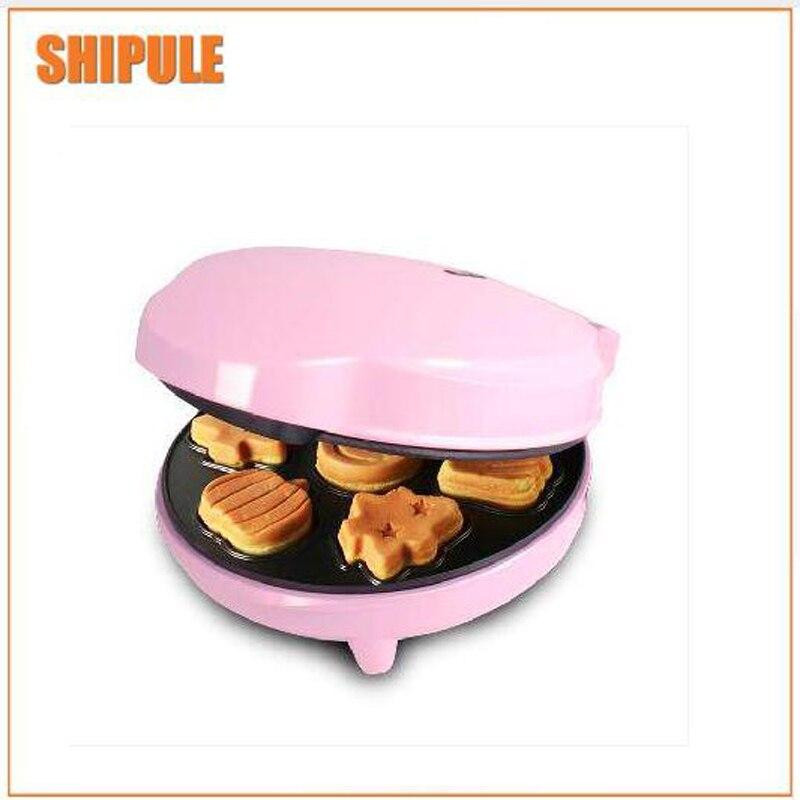pink Cake Maker Waffle Maker Home Automatic Breakfast Machine Multi-function Waffle Maker lolly waffle maker automatic waffle maker machine