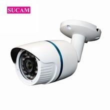 SUCAM High Definition 720p Infrared AHD Led Outdoor Camera 3.6mm Lens Video Surveillance 20meter Night Vision Mini Bullet Camera