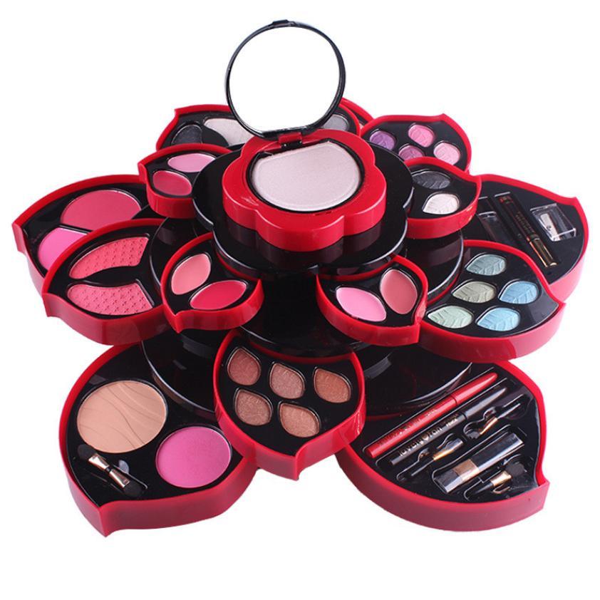ISHOWTIENDA Profissional Fashion 23Colors Eyeshadow Palette Luxury Golden Nude Palettes Professional Rotating makeup box Gift цена