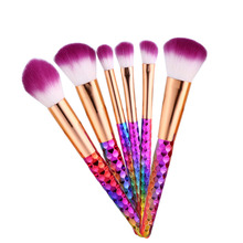 6pcs Unicorn Makeup Brushes Set Pincel Maquiagem Colorful Contour Base Foundation Powder Blush