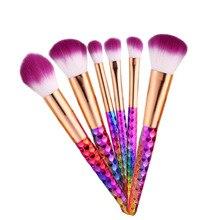 6pcs Unicorn Makeup Brushes Set