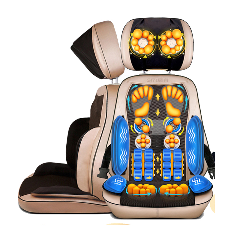 Electric Massage Chair Cushion Cervical Massage Device Neck Massage Pad Household Multifunctional Massage Pillow Full-body household cervical massage device neck multifunctional electric full body cushion car massage pillow for infrared heating