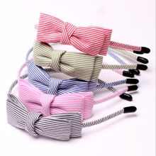 New Stripe Fabric Scrunchy Women Girls Turban pannebånd hårhodet båndpakke tilbehør for jente Headwear headdress hairband