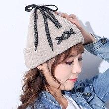 BING YUAN HAO XUAN Fashion Shoelace 2018 Women Hat Warm Winter Knitted Unisex Hat for Women Man Winter Skullies Caps Woman Cap