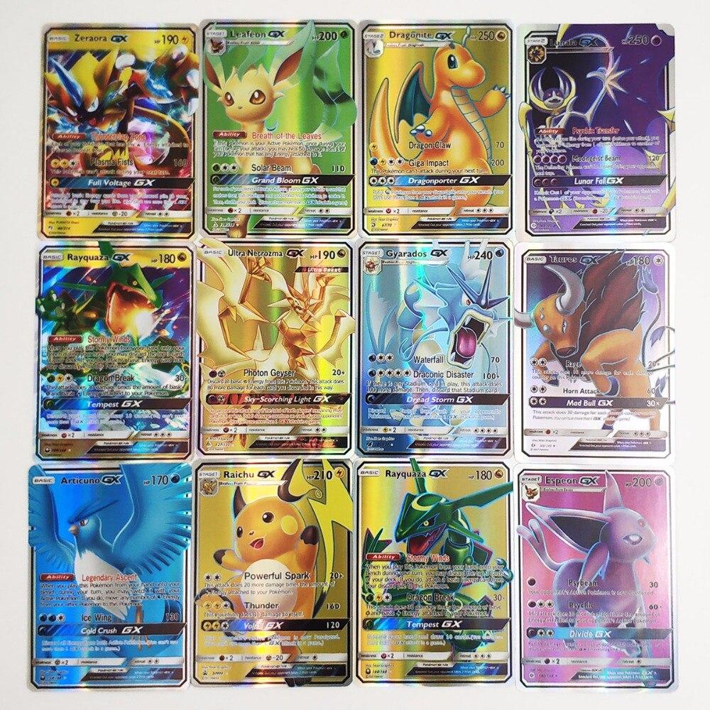 Hobby & Collectibles Spiel-sammelkarten 200 Stücke Gx Mega Glänzende Karten Spiel Schlacht Carte 25 50 100 Stücke Sammelkarten Spiel Kinder Pokemons Spielzeug