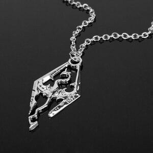 Крутая новая игра Дракон The Elder Scrolls V Подвеска Ожерелье Skyrim колье мужские украшения ожерелье цепочка-30