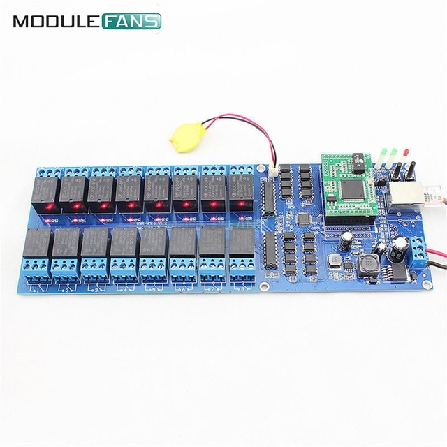 USR-R16-T Industrial Ethernet Relay 16 Channel Output Relay TCP/IP Relay New